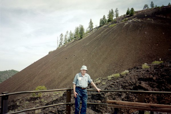 Volcanic, Extrusive-Basalt.  Newberry Crater, OR. 05-30-2003