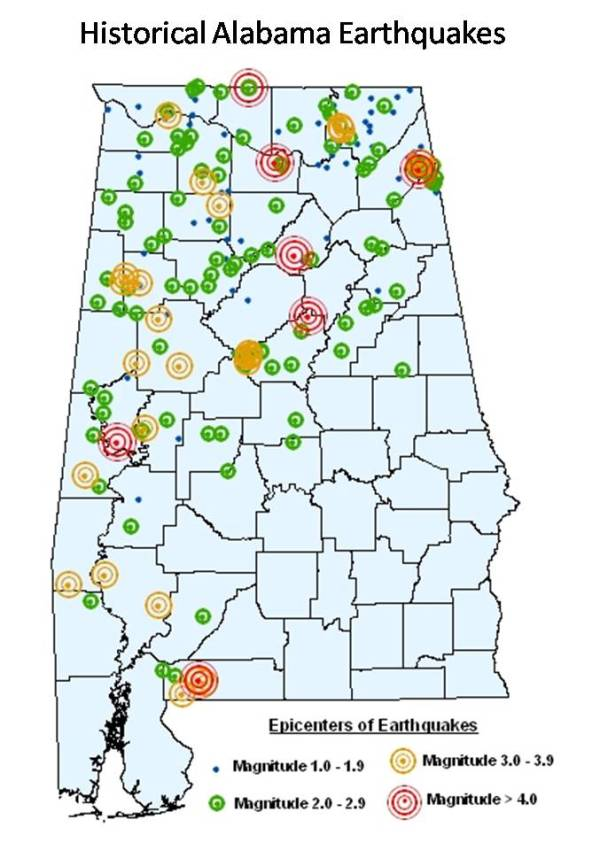 2.  AL Earthquakes, Historic. huntsvilleal.gov