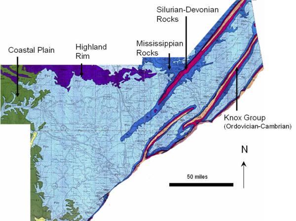 AL Geo. Map, Cumberland Plat.