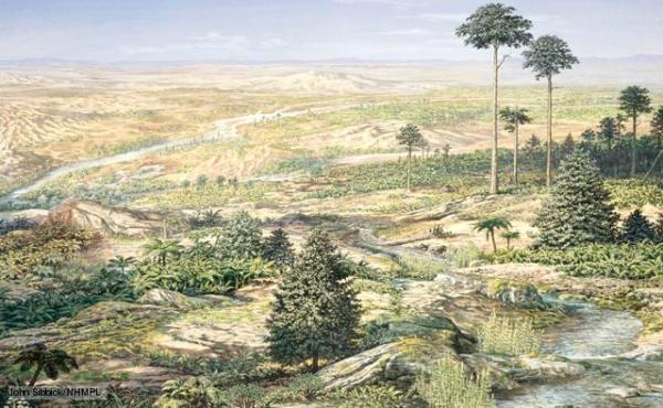 Triassic landscape