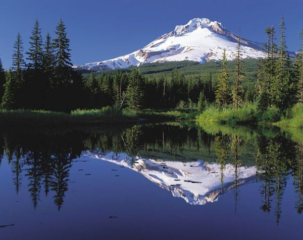 4. Mount Hood reflected in Mirror Lake, Oregon. fhwa.dot.gov