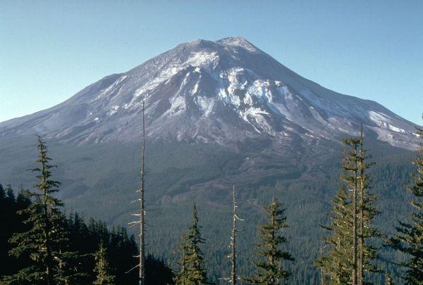 9A. Mount St. Helens _one day_before the devastating eruption. 1980. Harry Glicken, USGSCVO