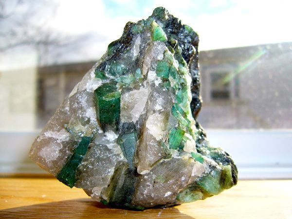 1. Beryl, Emerald in quartz and pegmatite matrix. 2006. Madereugeneandrew