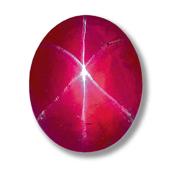 6. Corundum, Ruby, Star. Rosser-Reeves. 138.72c. Sri Lanka. Smithsonian
