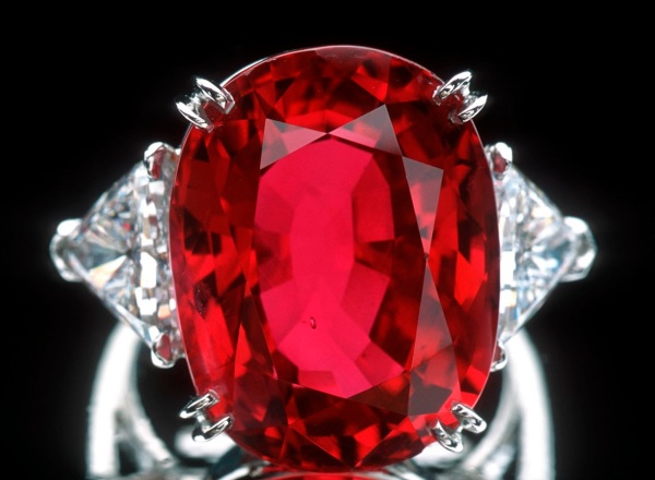 8. Corundum, Ruby Ring, Carmen Lucia, 23.1c. Smithsonian, Chip Clarke Photo