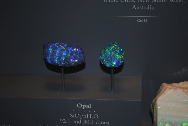2. Opal. Australia. Natiional Museum of Natural History. by Emily Curewitz
