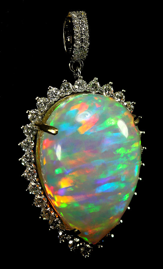 6. Opal, Ethiopian Welo, Jupiter, 20c. Opal_and_Diamond_Pendant. 2015. Doxymo