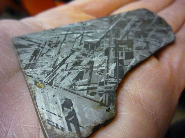 Iron Meteorite.. Widmanstatten pattern. 2009. Ca Poly. Waifer