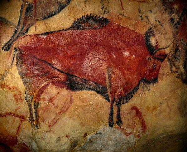 Iron. Red Ochre. Altamira Bison. 16500-15500 BC Spain. 2008. Rameessos